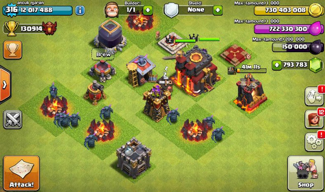 Clash Of Clans Mod FHx Private Server Indonesia Update 2015